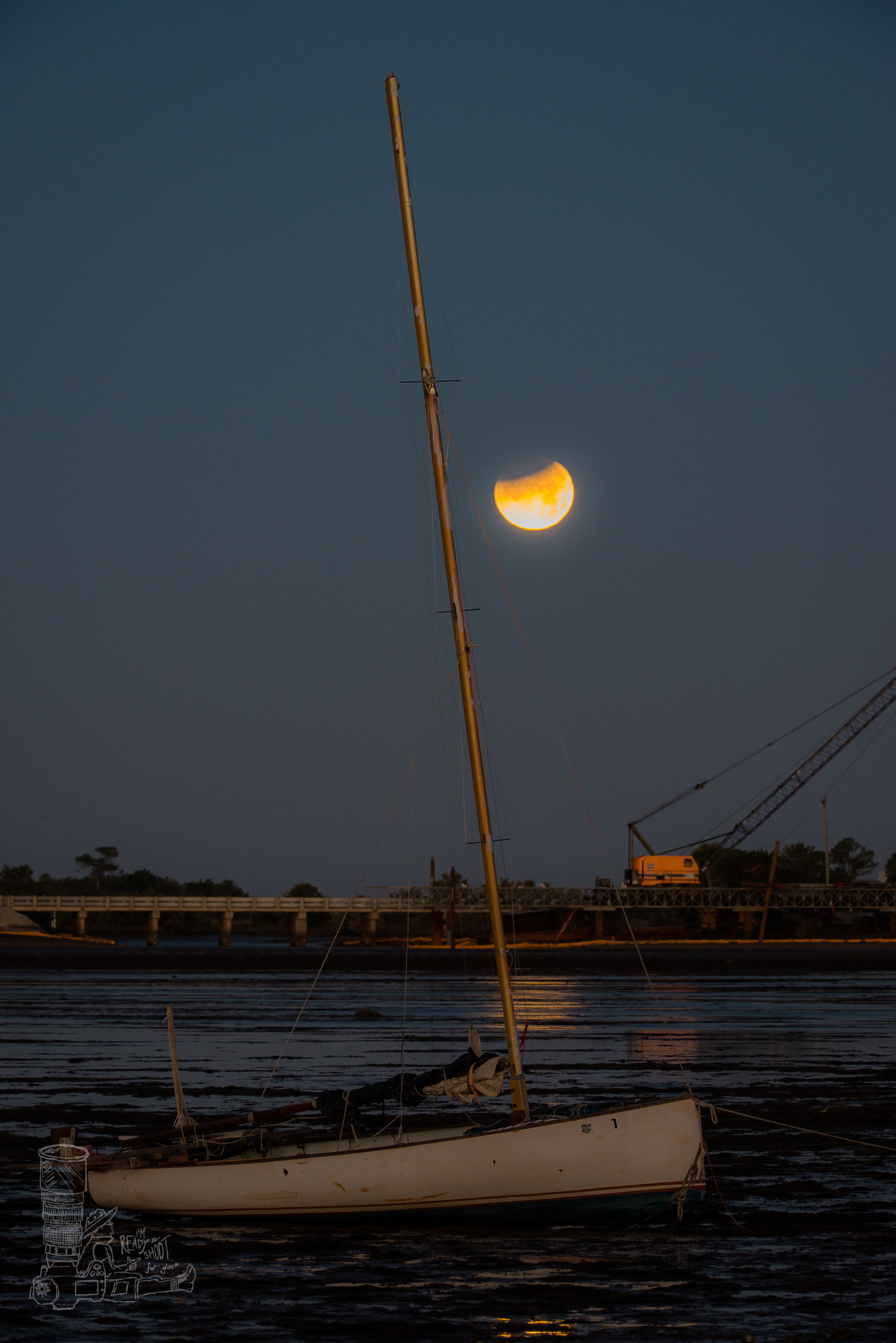 The Eclipse & the Sailboat