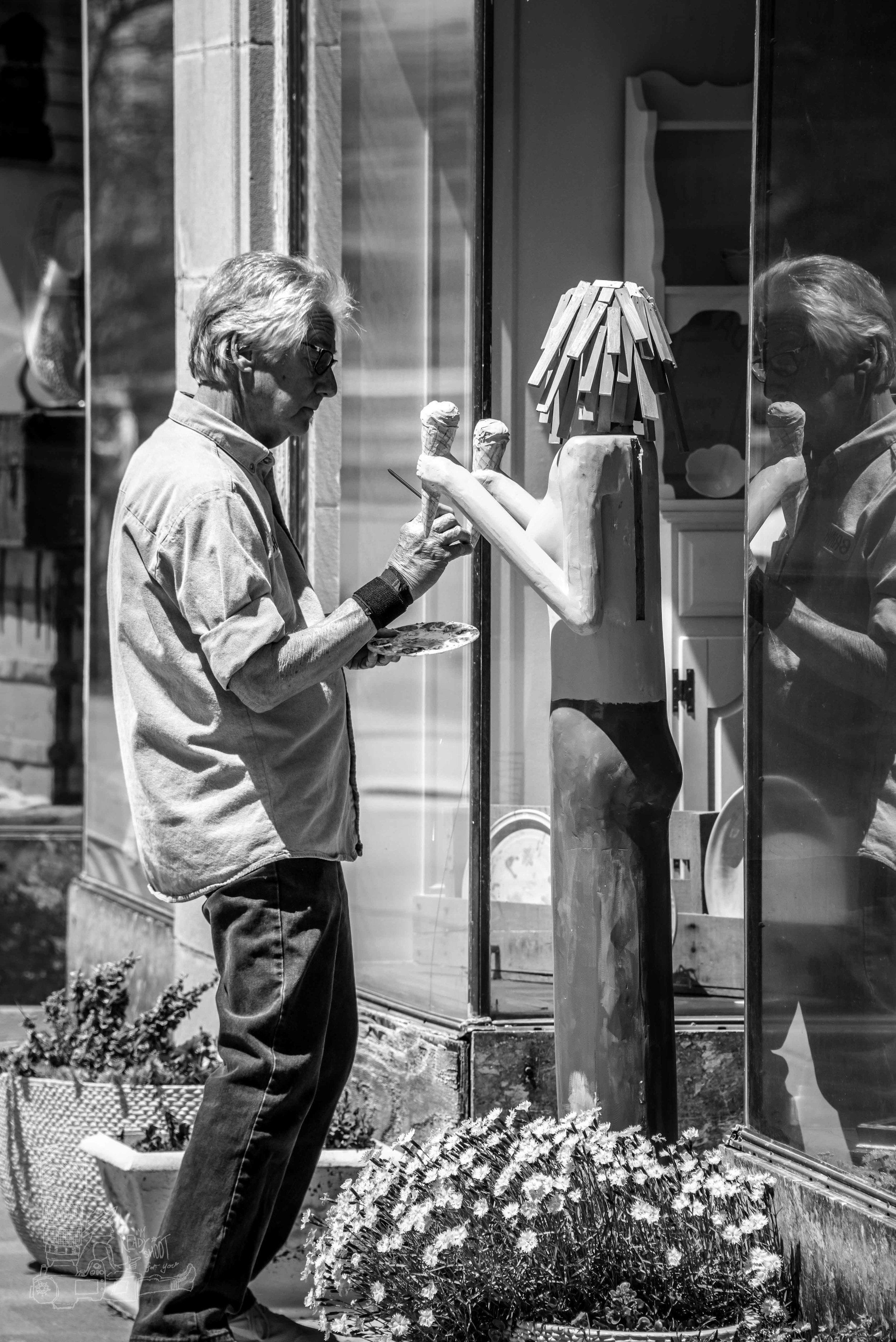 Bruce, An Artist at Work