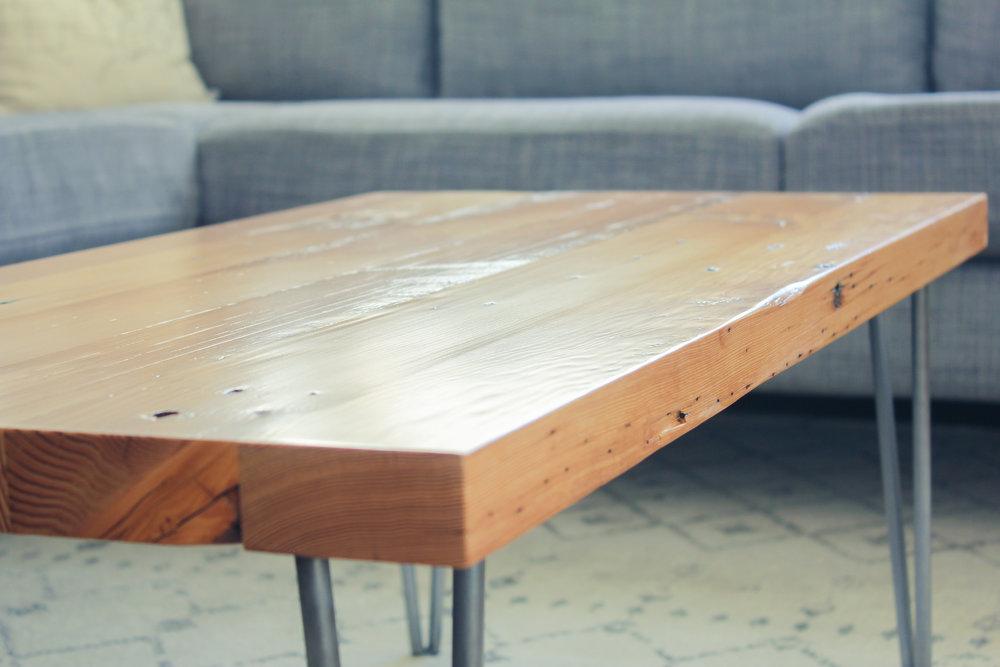 Reclaimed Douglas Fir Coffee Table, Douglas Fir Furniture