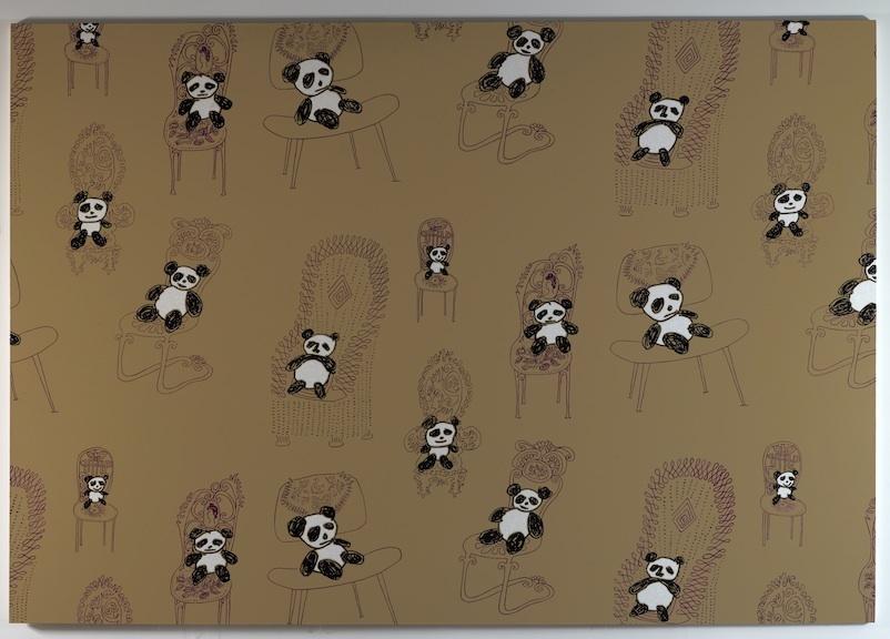Panda Pattern: Rob Pruitt Pandas Sitting on Saul Steinberg Chairs