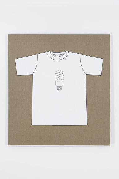 Rob Pruitt's T-Shirt Collection: Jasper Johns, Green