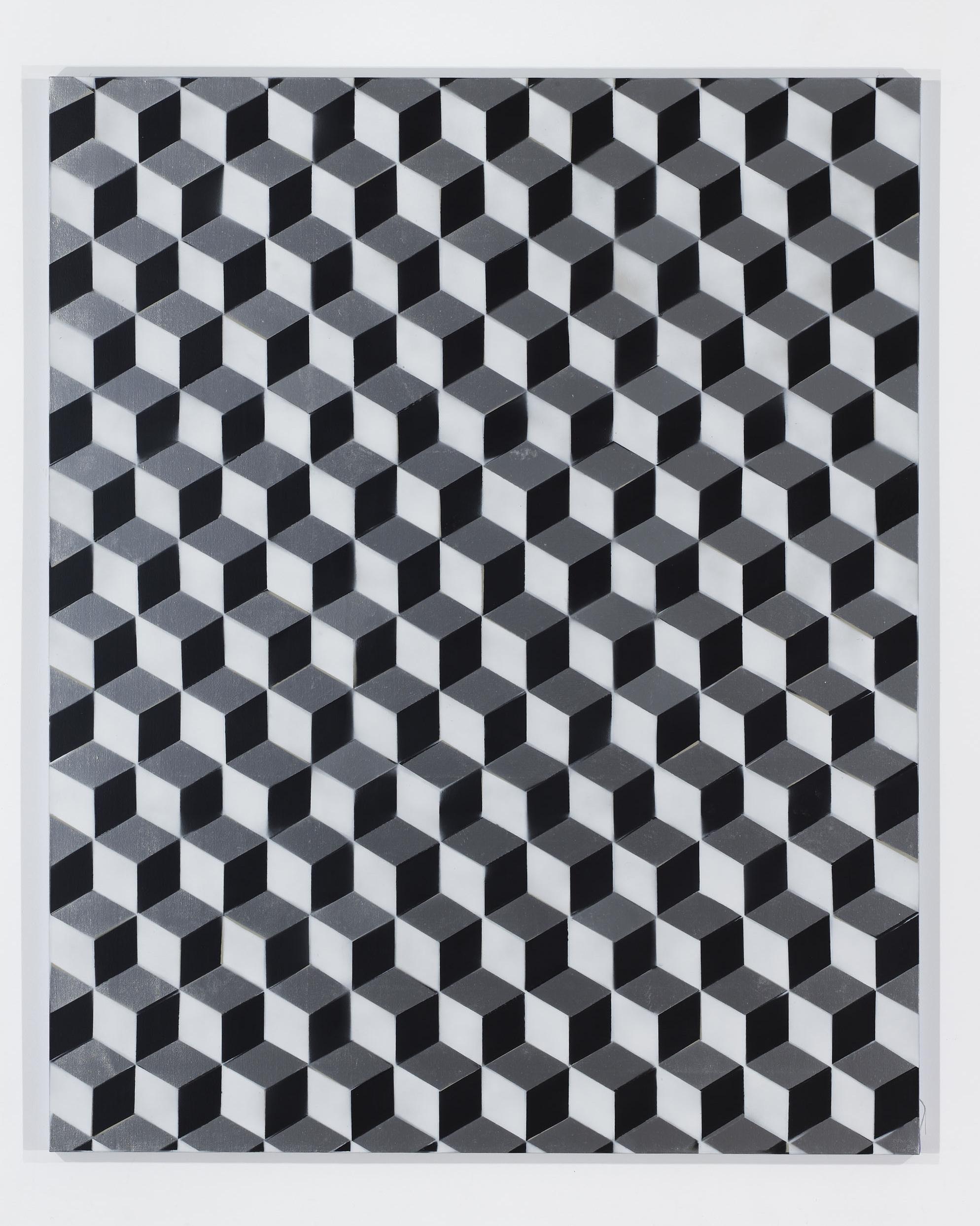 Rumspringa Quilt: Tumbling Blocks (Gray, Black and White)
