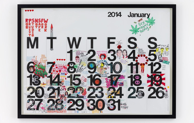 Studio Calendar January 2014