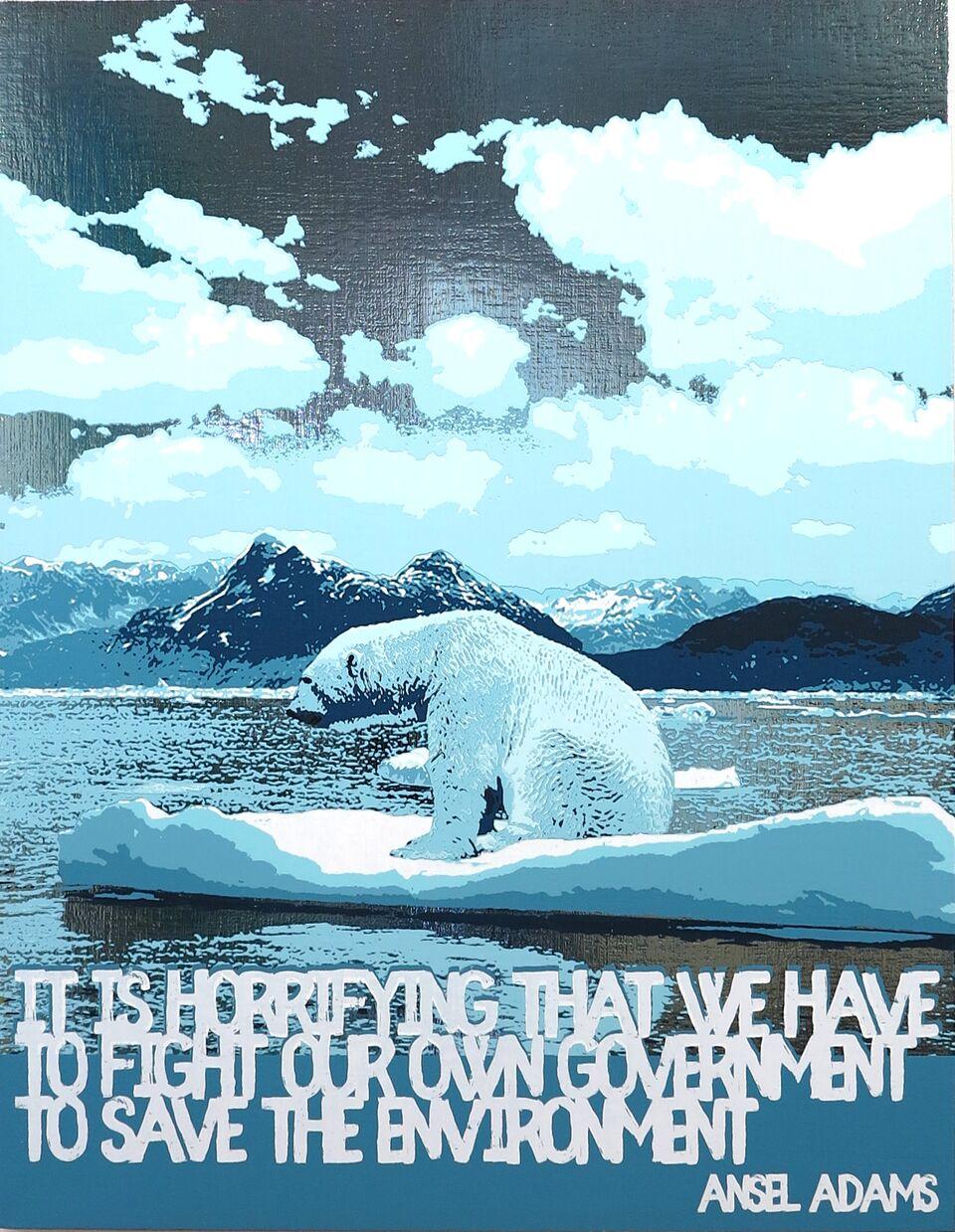 Polar Bear/Global Warming (Ansel Adams)