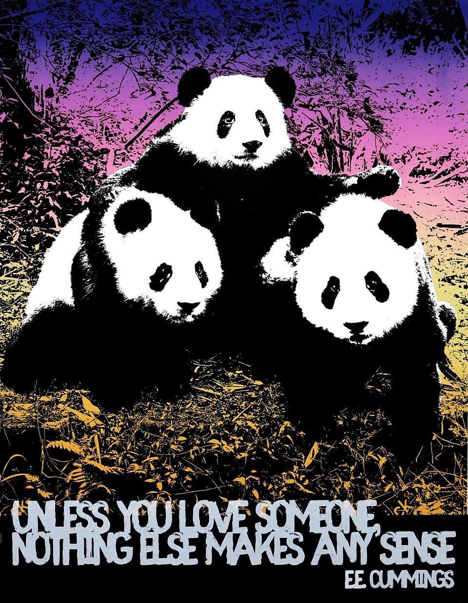 Motivational Panda (E.E. Cummings)