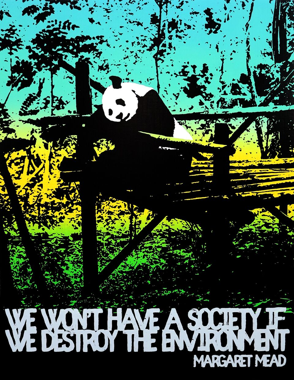 Motivational Panda (Margaret Mead)