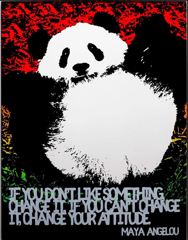 Motivational Panda (Maya Angelou)