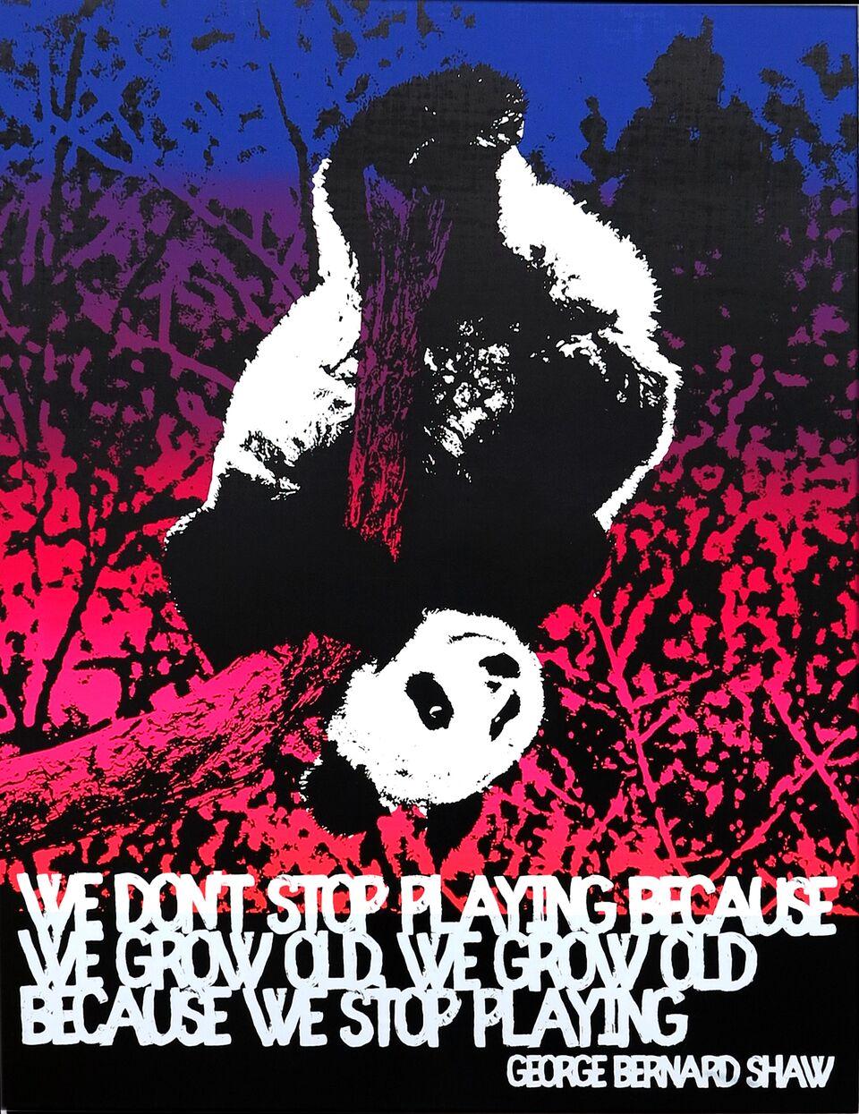 Motivational Panda (George Bernard Shaw)
