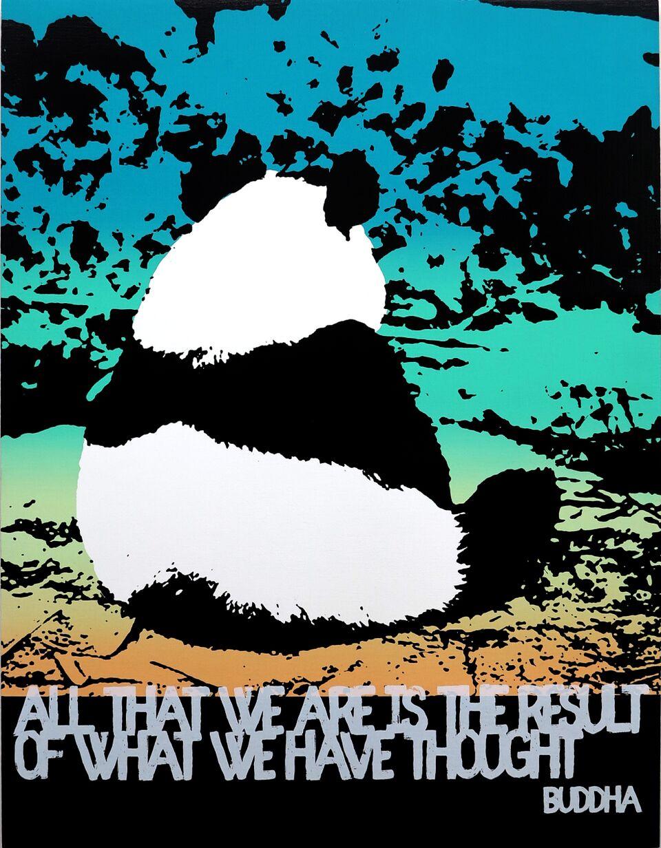 Motivational Panda (Buddha)