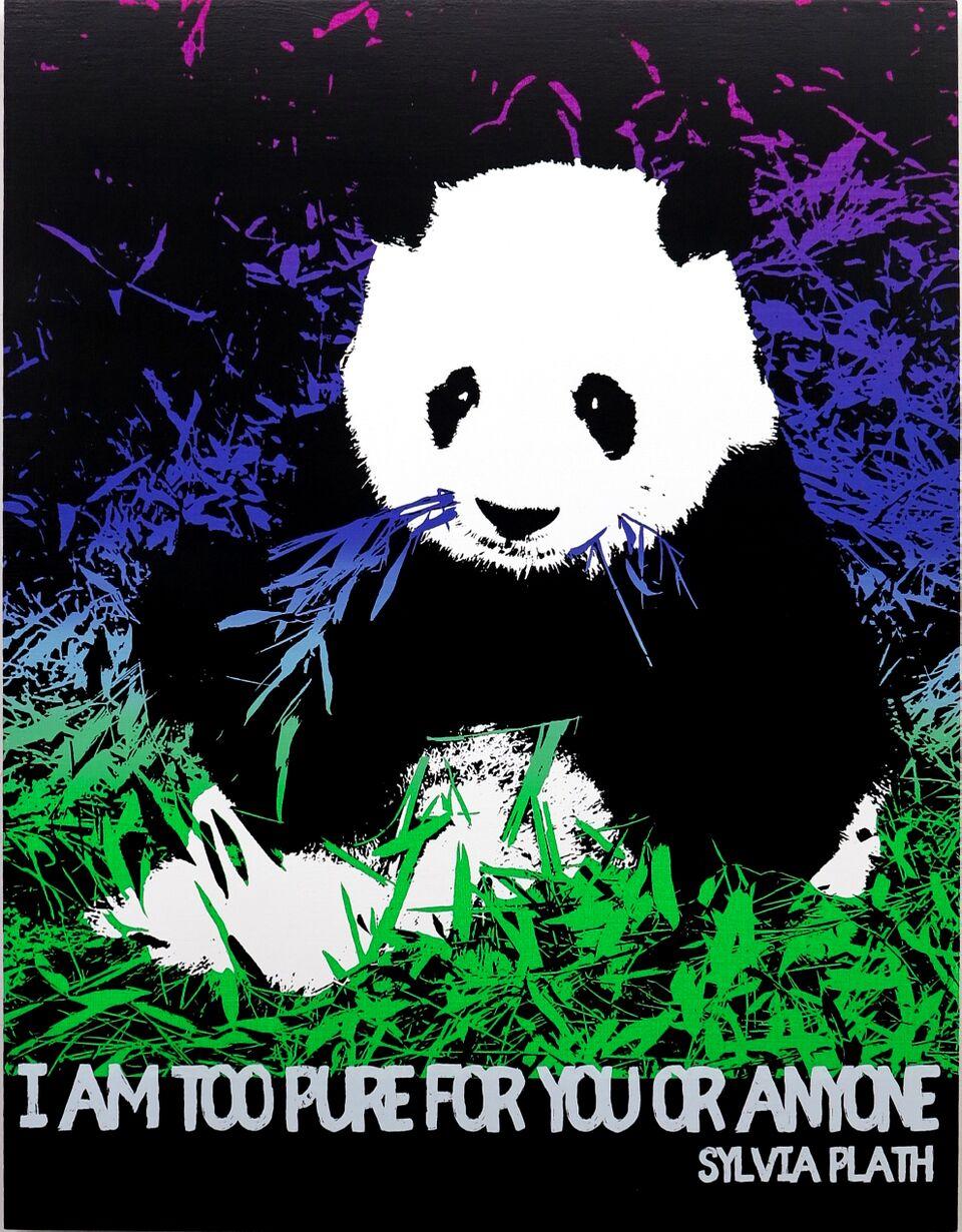 Motivational Panda (Sylvia Plath)