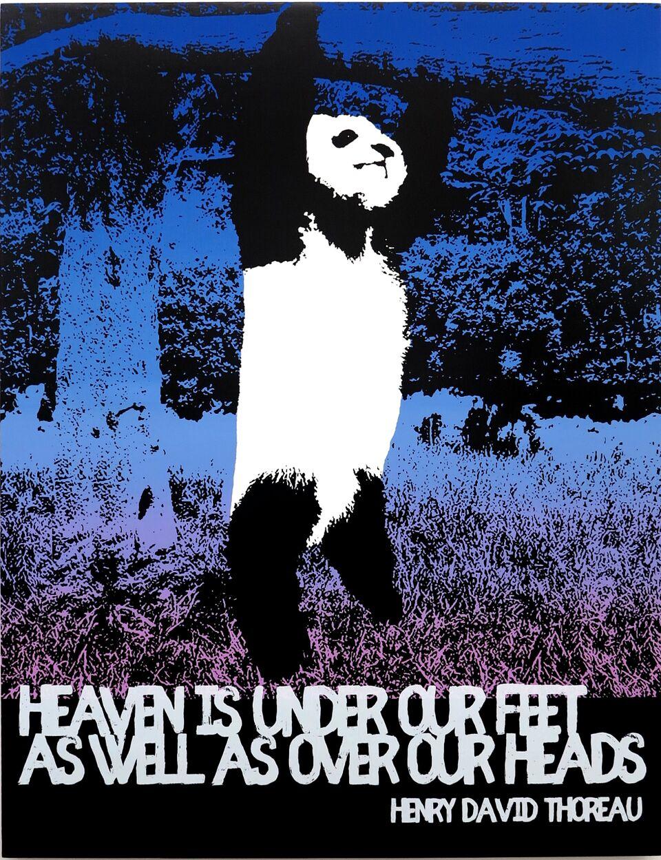 Motivational Panda (Heaven, Henry David Thoreau)