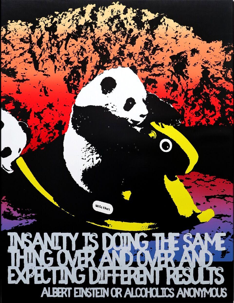 Motivational Panda (Albert Einstein/Alcoholics Anonymous)