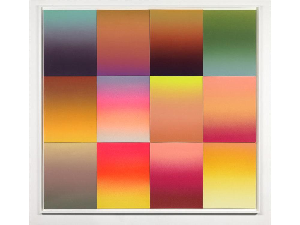 Gradient Studies, 12 panels, Sonora Desert