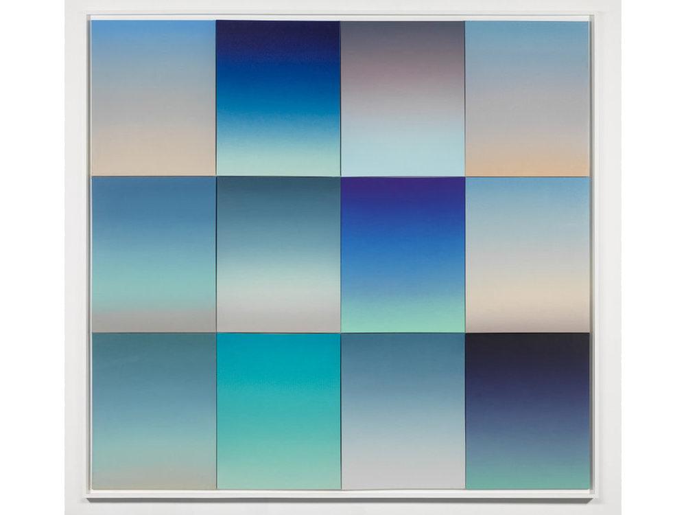 Gradient Studies, 12 panels, Skies