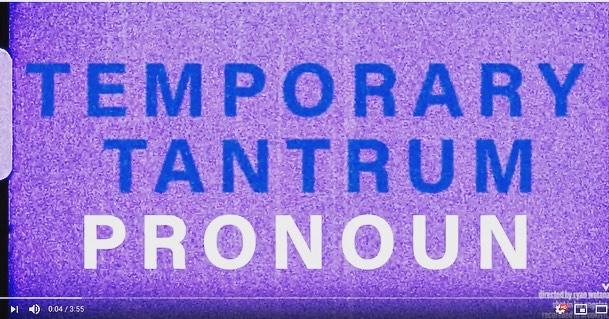 everything looks different when your heart hurts, see the latest from @musicpronoun, video for 'temporary tantrum' is out now    . . . . . . . . #pronoun #musicpronoun #vinyl #vinylrecord #rock #indierock #brookyln #lofi #bedroompop #music #newmusic #instavinyl #illshowyoustronger #newrelease #stronger #tour #liveontour #newvideo #video #musicvideo #independentmusic #tantrum #temporarytantrum #heart