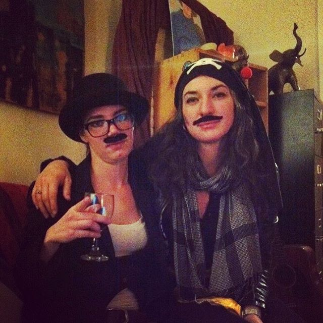Happy Halloween from RARR #tbt 2011 🕷👻☠️🎃 fake #mustaches we're all the rage back then, you had to be there! 😈#charliechaplin #pirate