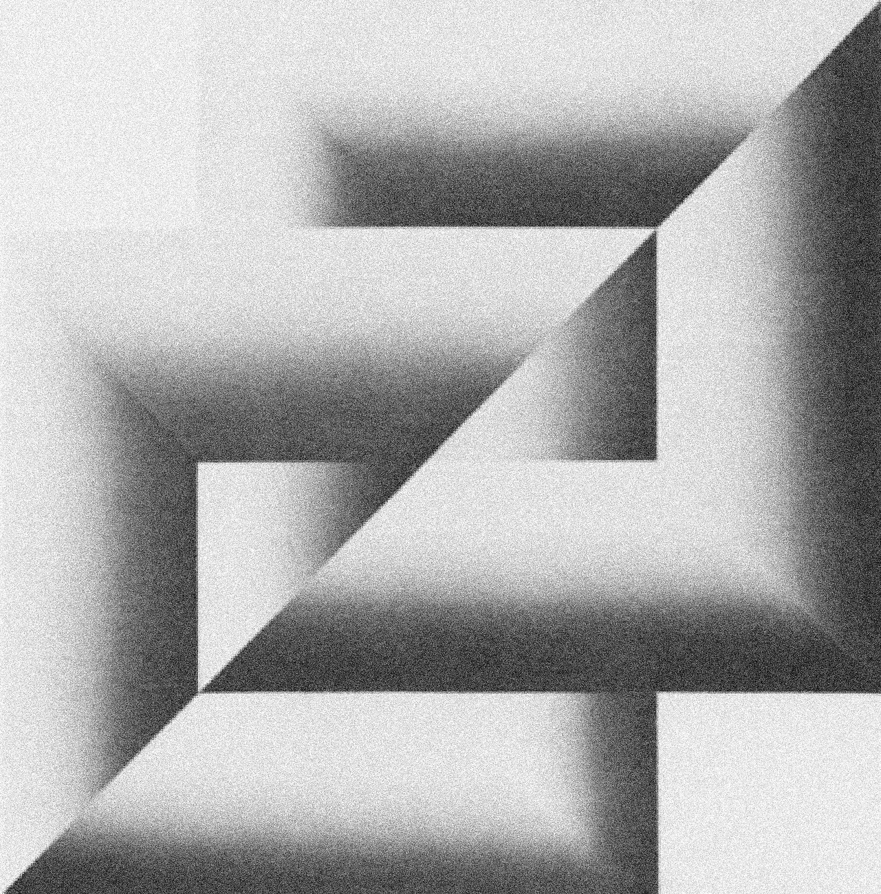 """Kazys Varnelis,  DUPLEX,  1972, acrylic on canvas, 48""""x48""""."""