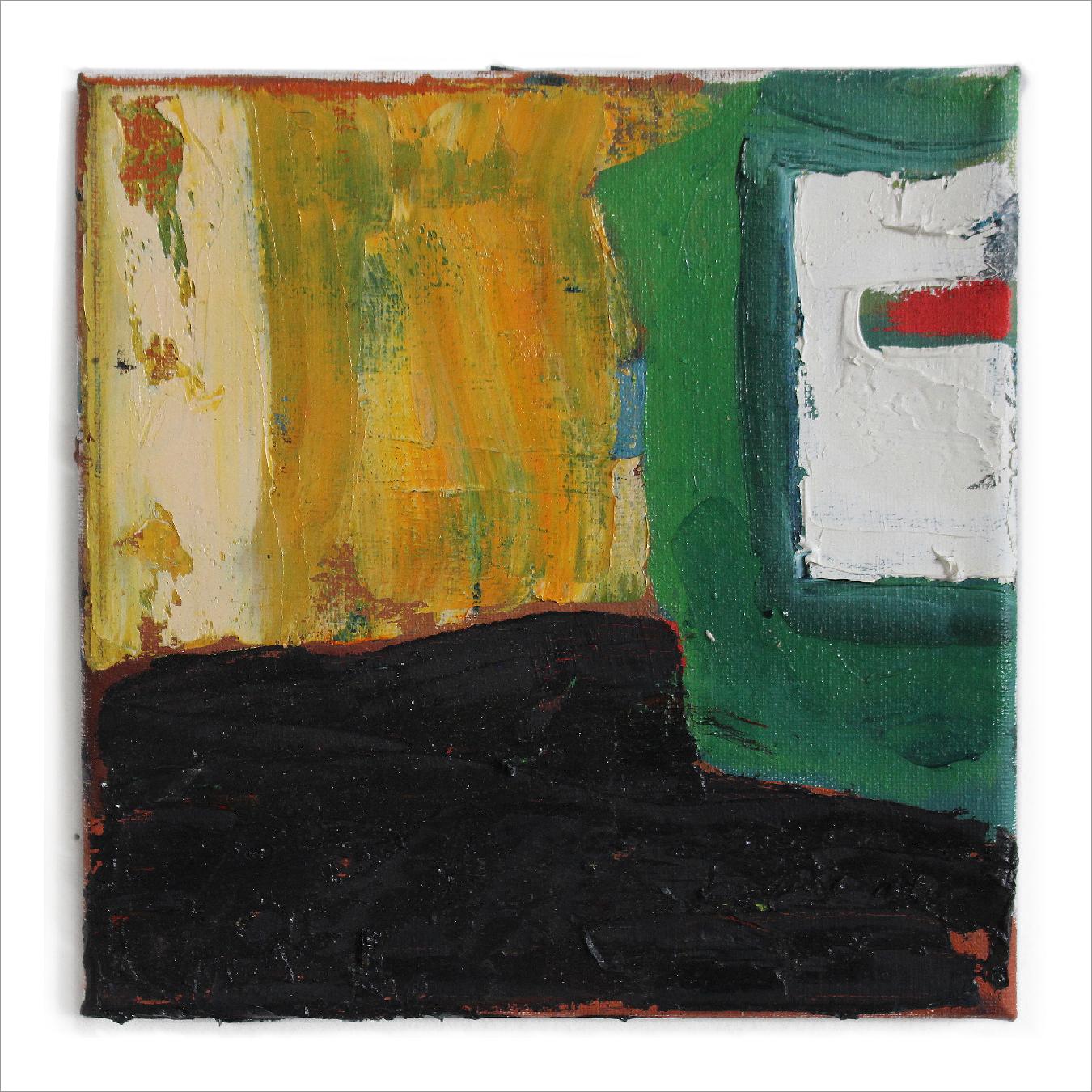 "Parking Lot Corner , 8"" X 8"", oil on canvas, 2017"