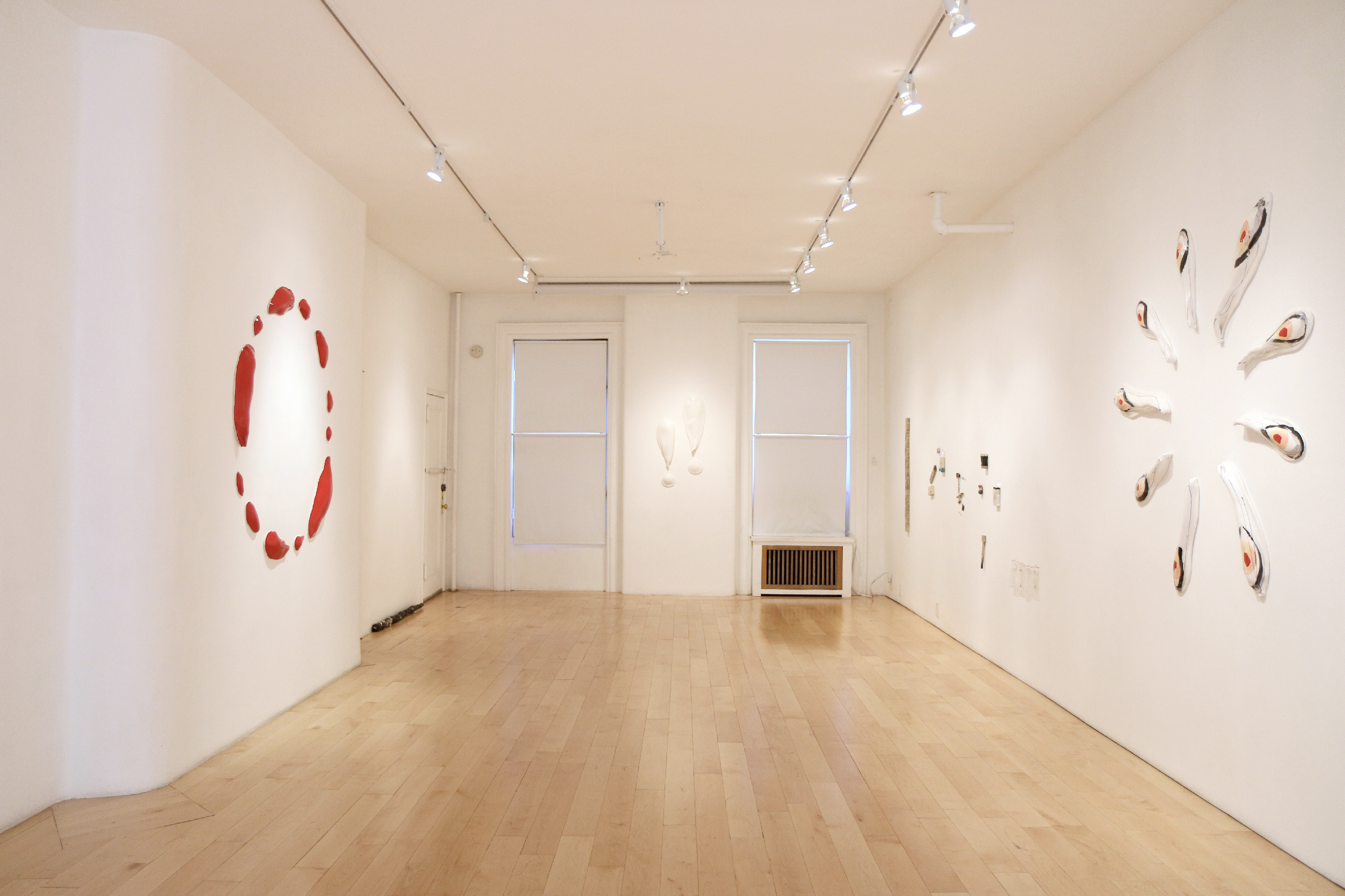 Installation images: walls 2 / 3 / 4 (from right to left)