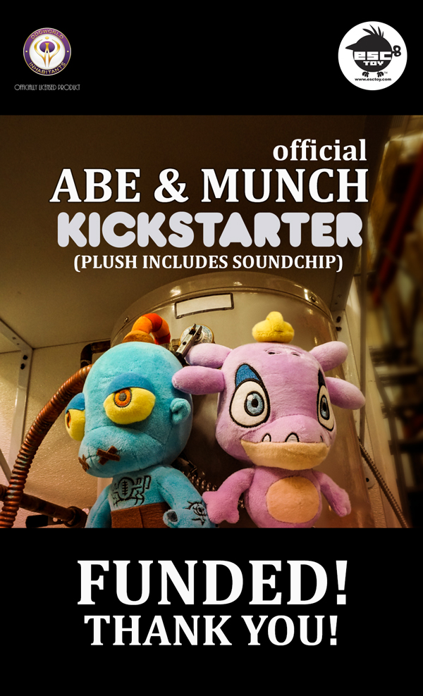 Behold Mudokons! We did it! Thank you for funding the @OddworldInc x @esctoy plush project on Kickstarter- http://kck.st/2qtOAt4