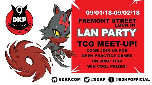 We will be demoing the @9dkp TCG and offering cool prizes at the 2018 #FREMONT #LAN #PARTY starting tomorrow! Come join us at the @9DKP booth! See you there!