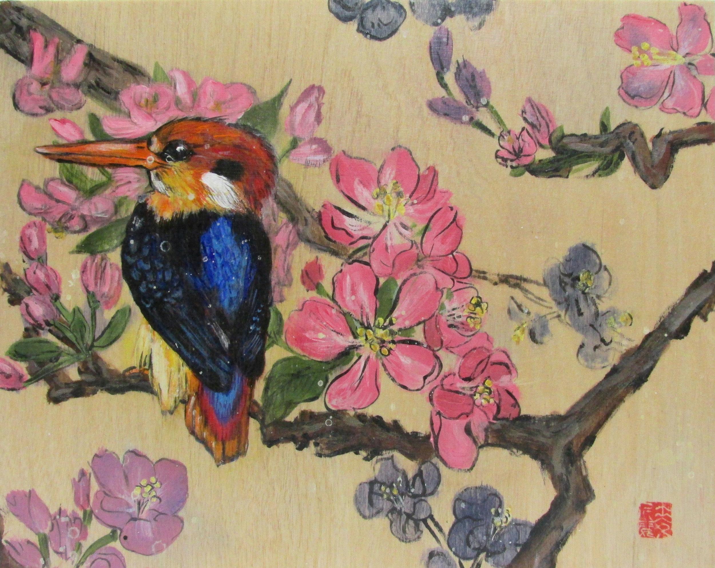 2015-Oriental-Kingfisher-on-a-Cherry-Blossom-Branch-by-Ingrid-Alvarez.jpg