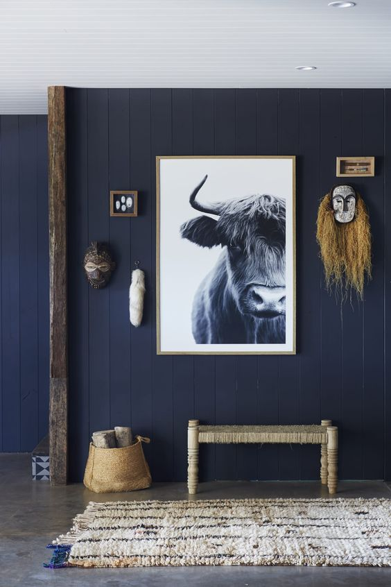 The Curator- a beautiful gallery wall featuring jewel tones