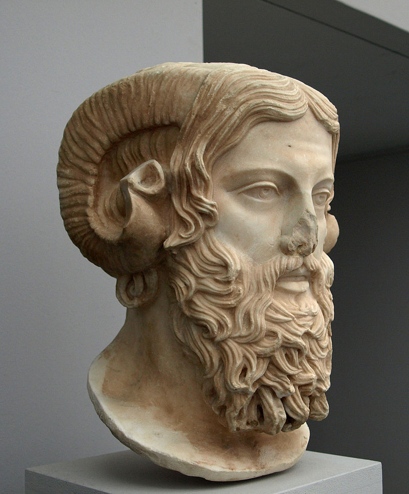 A Roman copy of a Greek sculpture of Zeus Ammon. The original dated back to the late 5th century BCE.