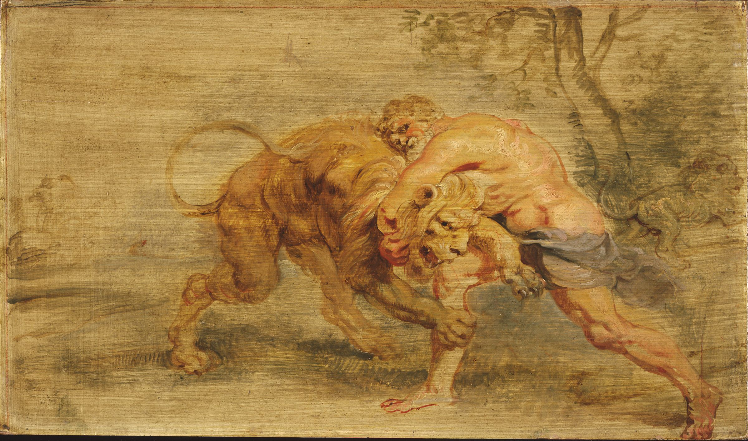 Heracles Strangling the Nemean Lion, Peter Paul Rubens, 1639