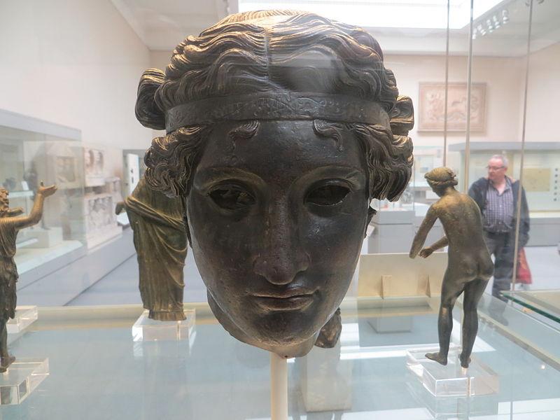 Bronze head of Dionysus, British Museum, 50 BCE - 50 AD
