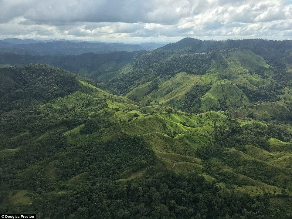 The Mosquitia Region (above) is largely untouched by modern civilization and proved very difficult to navigate. Photo by Douglass Preston, author of the book.