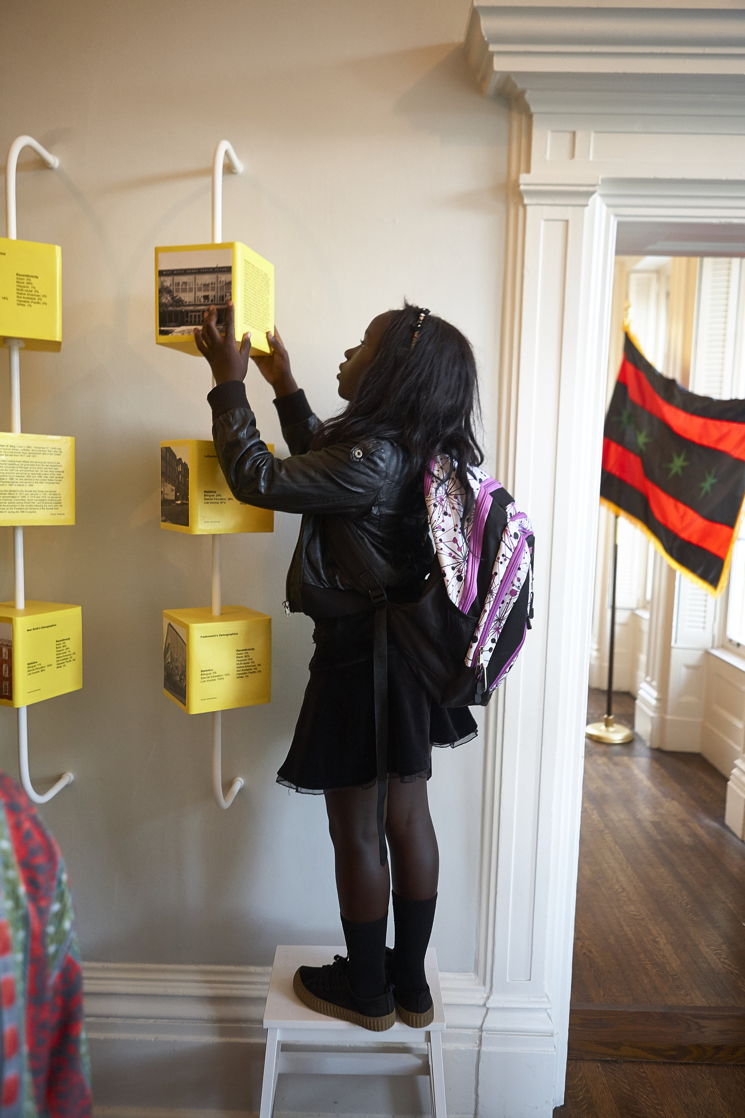 Current exhibition  Claiming Space: Creative Grounds and Freedom Summer School  on View through March 31, 2018. (Brandon Fields/JAHHM)