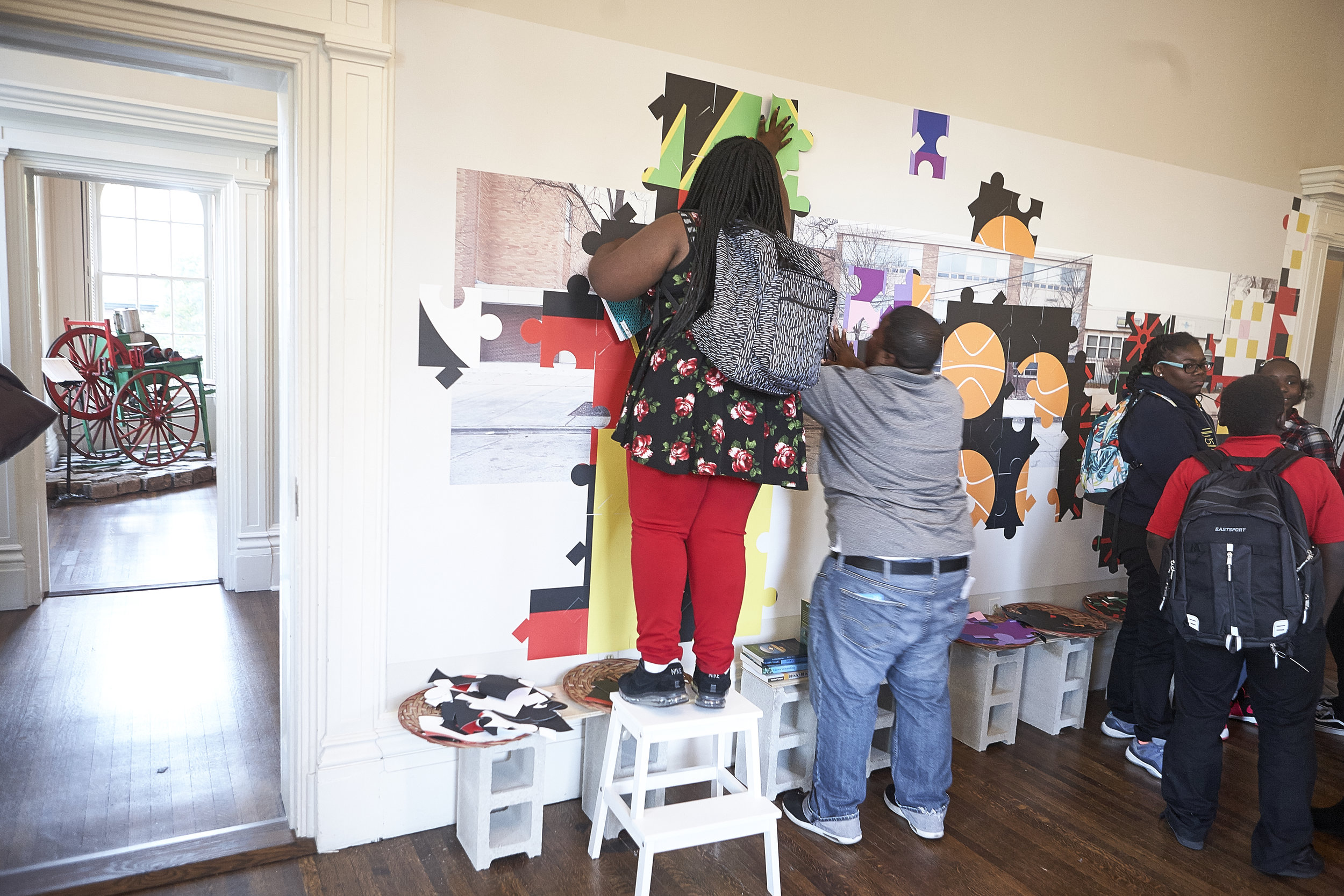 Current exhibition  Claiming Space: Creative Grounds and Freedom Summer School  on view through March 31, 2018. (Image: Brandon Fields/JAHHM)