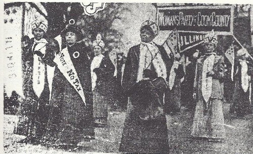 Ida B. Wells Barnett marching in washington D.C. suffrage parade, 1913.