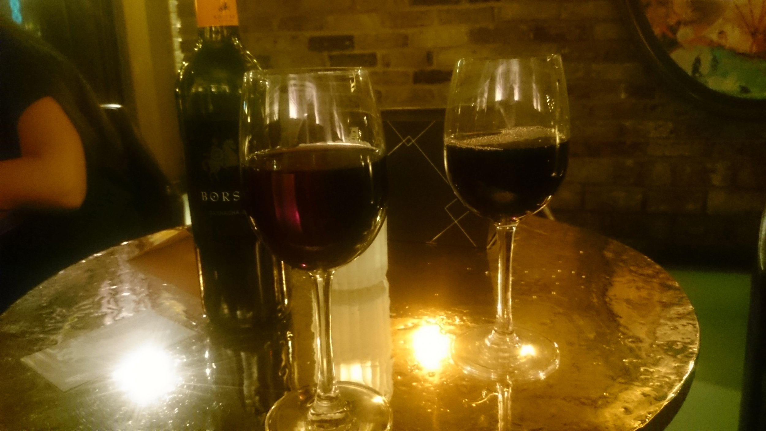 There was someone else there - I didn't order two glasses of wine at the same time. OR DID I!?