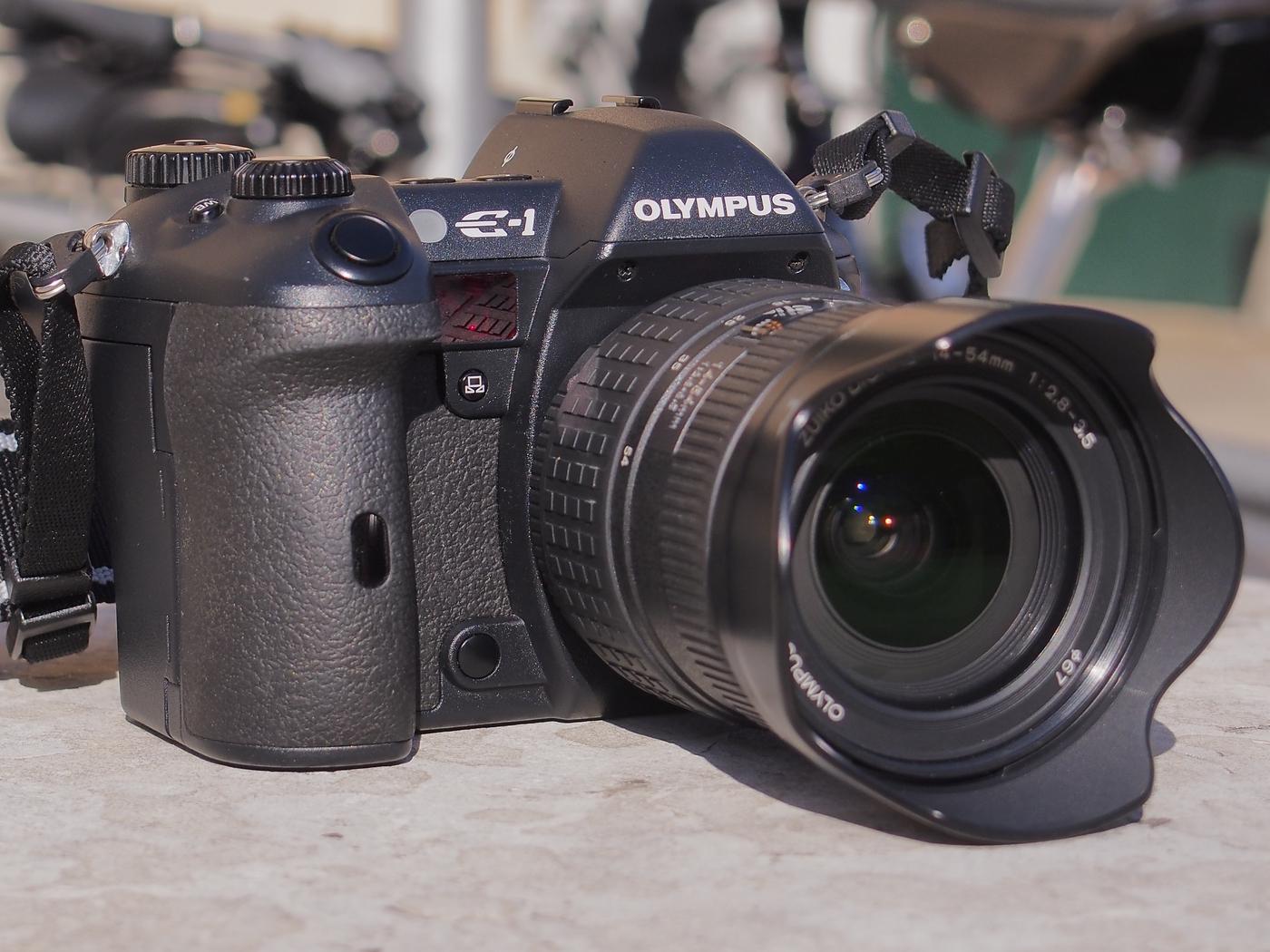 Olympus E-1 with the Zuiko Digital 14-54 f/2.8-3.5