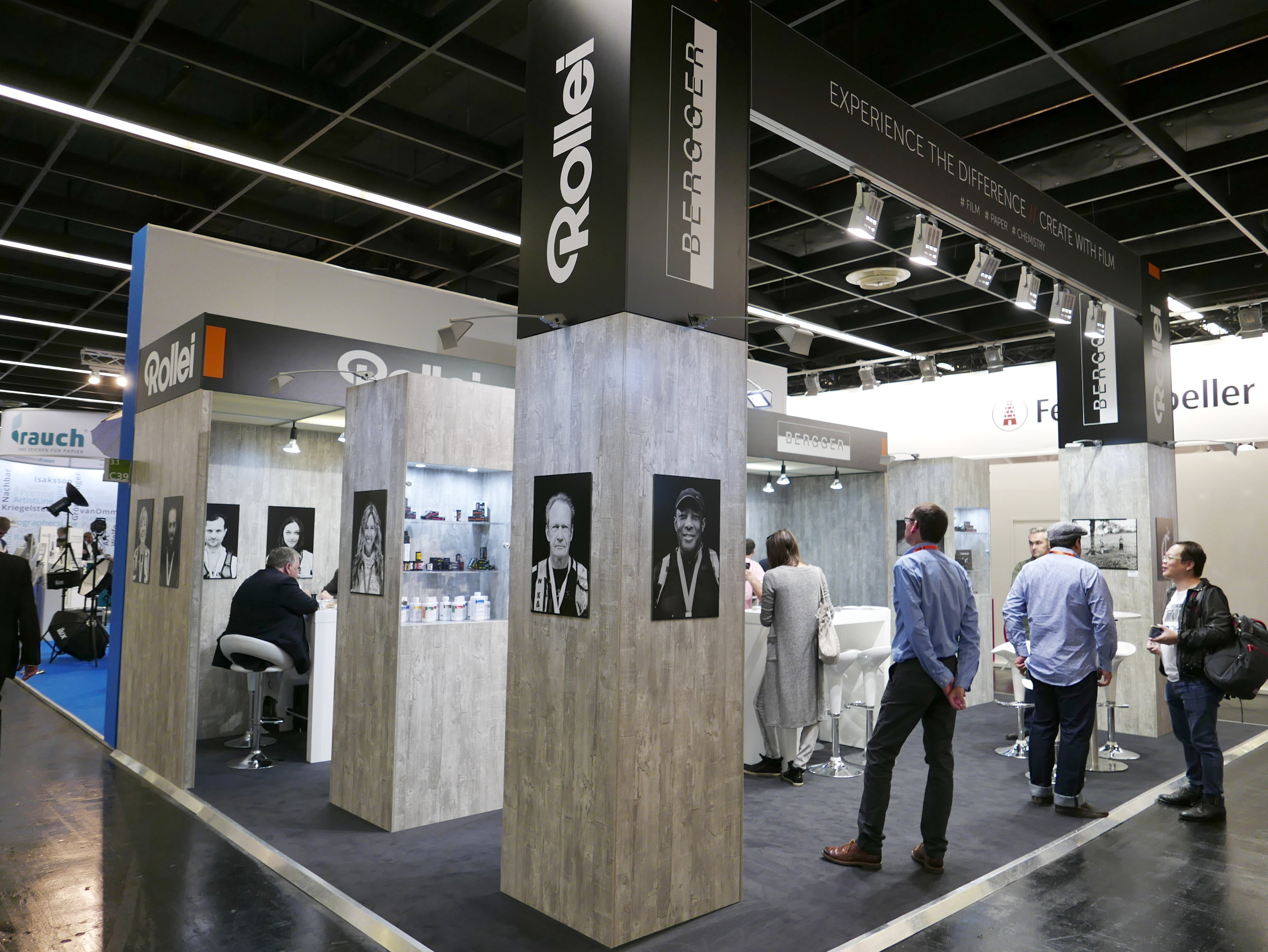 The combined Rollei & Bergger booth