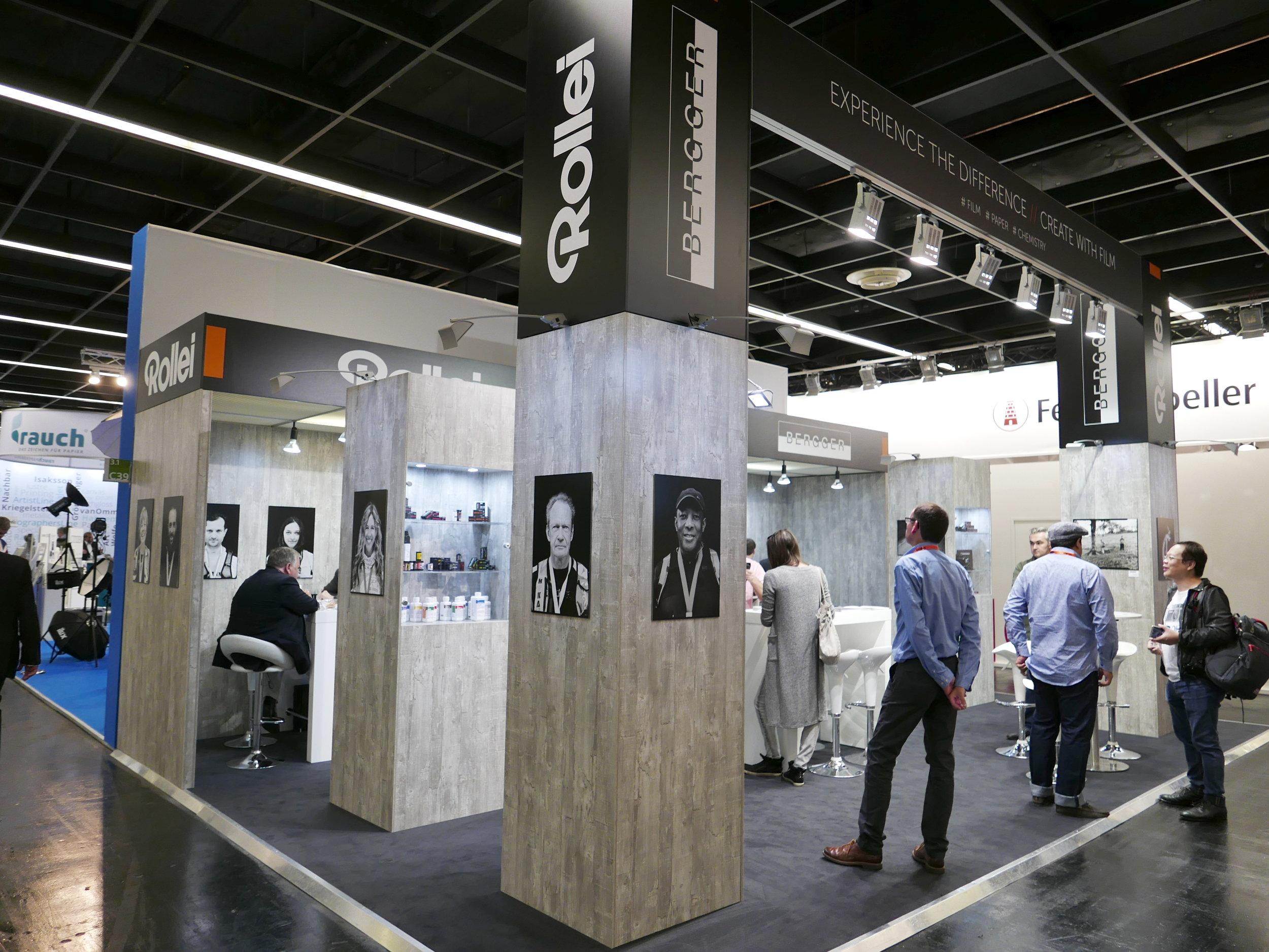 Gemeinsame Ausstellungsfläche von Rollei und Bergger
