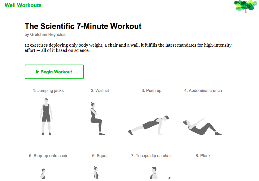 The New York Time Scientific 7-Minute Workout