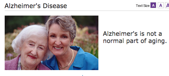 From the Alzheimer's Association Website.