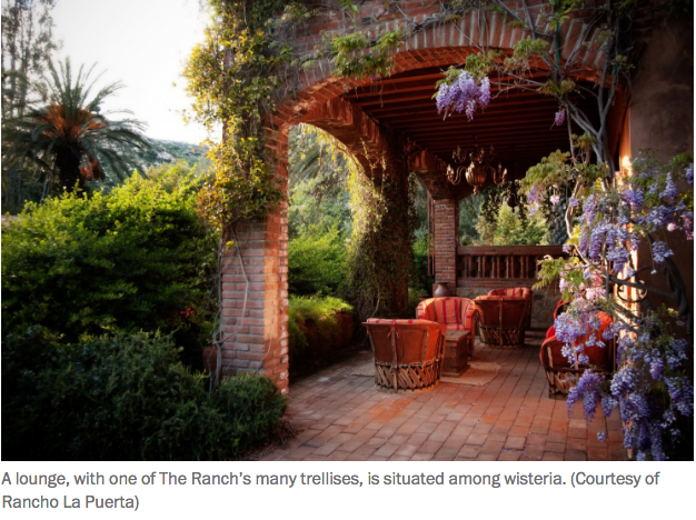 A Thrill that two of my photos were used to illustrate a travel story in the Washington Post about Rancho La Puerta - a little bummed to not get a photo credit, but hey, visits to RLP are enough!!!