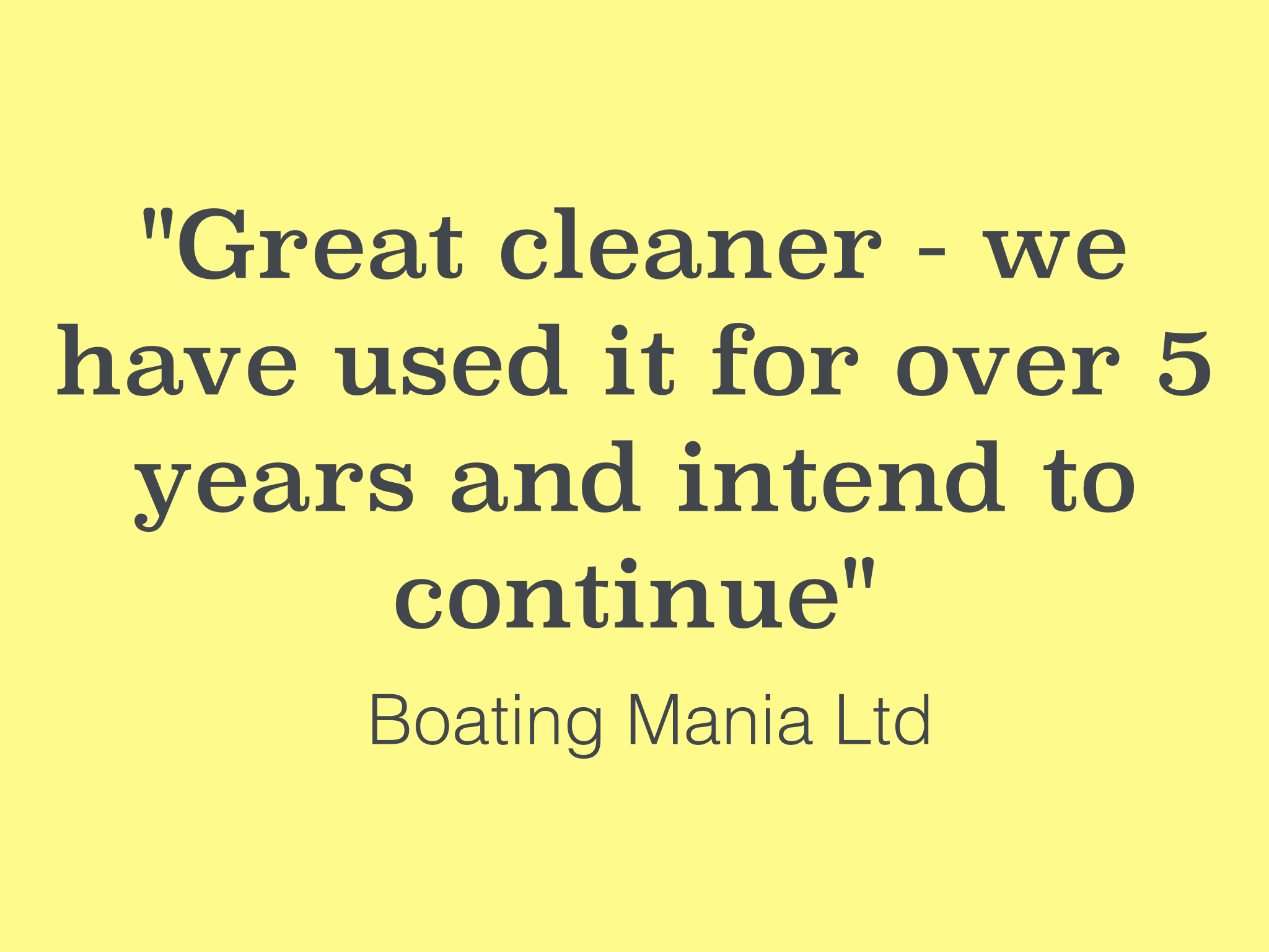Brill cleaner testimonial