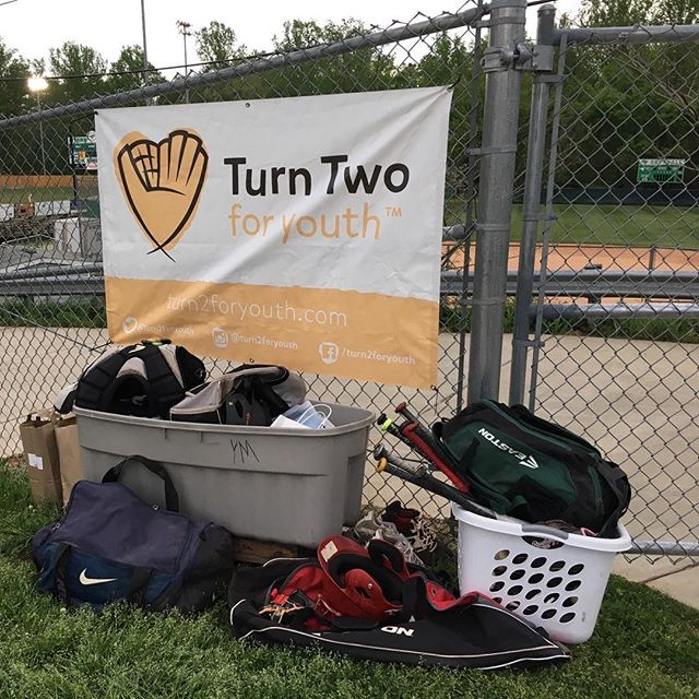Look at all this equipment!! We had the pleasure of collecting gear at the Annual Jack Sink Invitational Baseball Tournament. This work could not have been done without the help of the tournament hosts Myers Park and East Mecklenburg High Schools. Thank you to everyone who donated and the other participating high school teams for helping us, turn two for youth!! . . #Letsturntwo #turntwo #T2FY #turntwoforyouth #baseball #youthbaseball #giveback #donate #donateclt #charlottesgotalot #teamsports #teamwork #donatecharlotte #givebackcharlotte #thankyou #charlotteknights #charlotteknightsbaseball #charlottebaseball