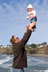 With my daughter Tallulah in Mendocino, California