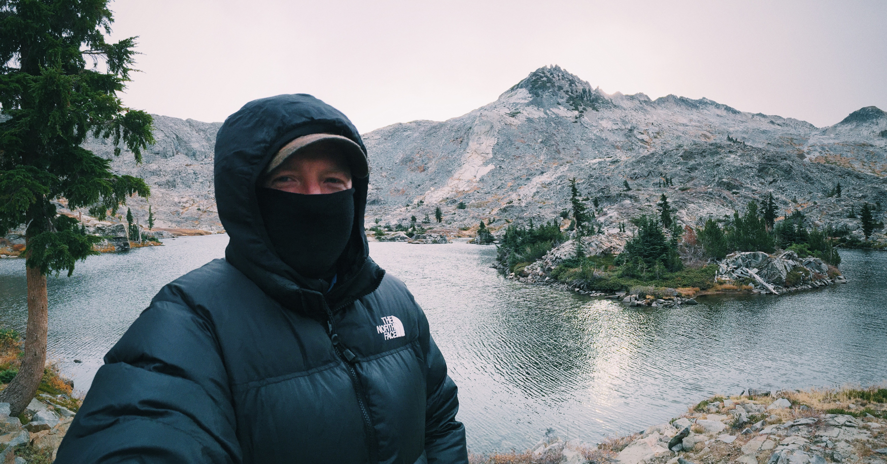 Chilly morning at Island Lake, in the Eldorado National Forest, CA