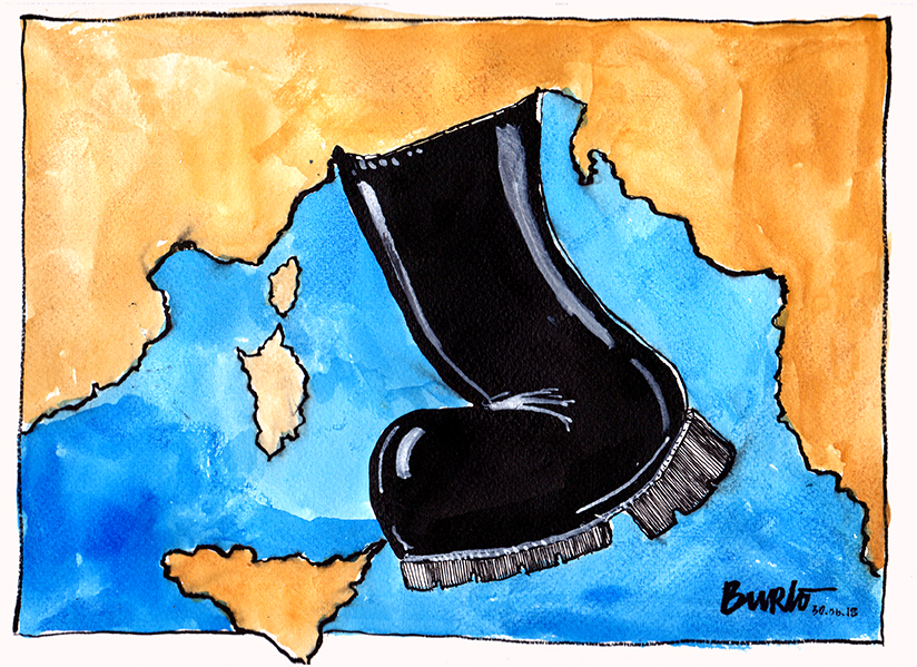 Salvini's boot