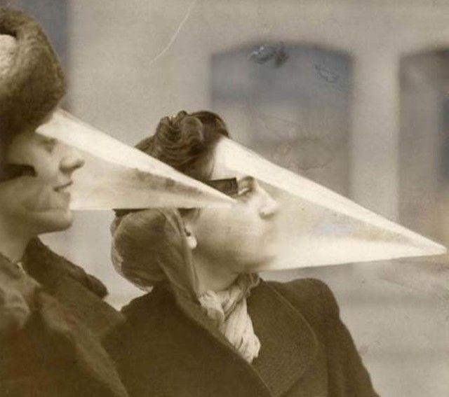 In 1939 there were  Blizzard Cones  to protect your face from the cold!