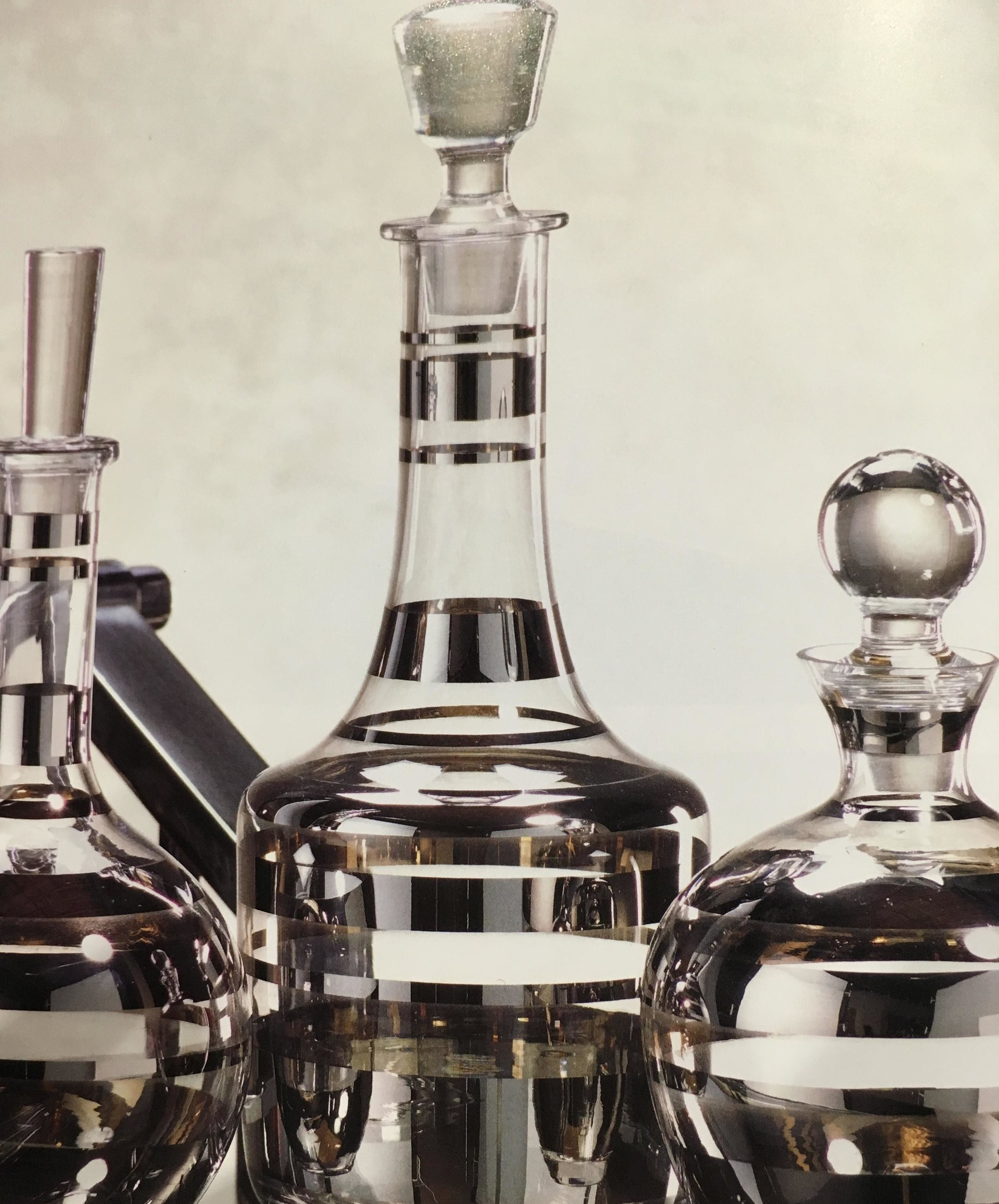 Order Number. 3. Glass alcohol bottles