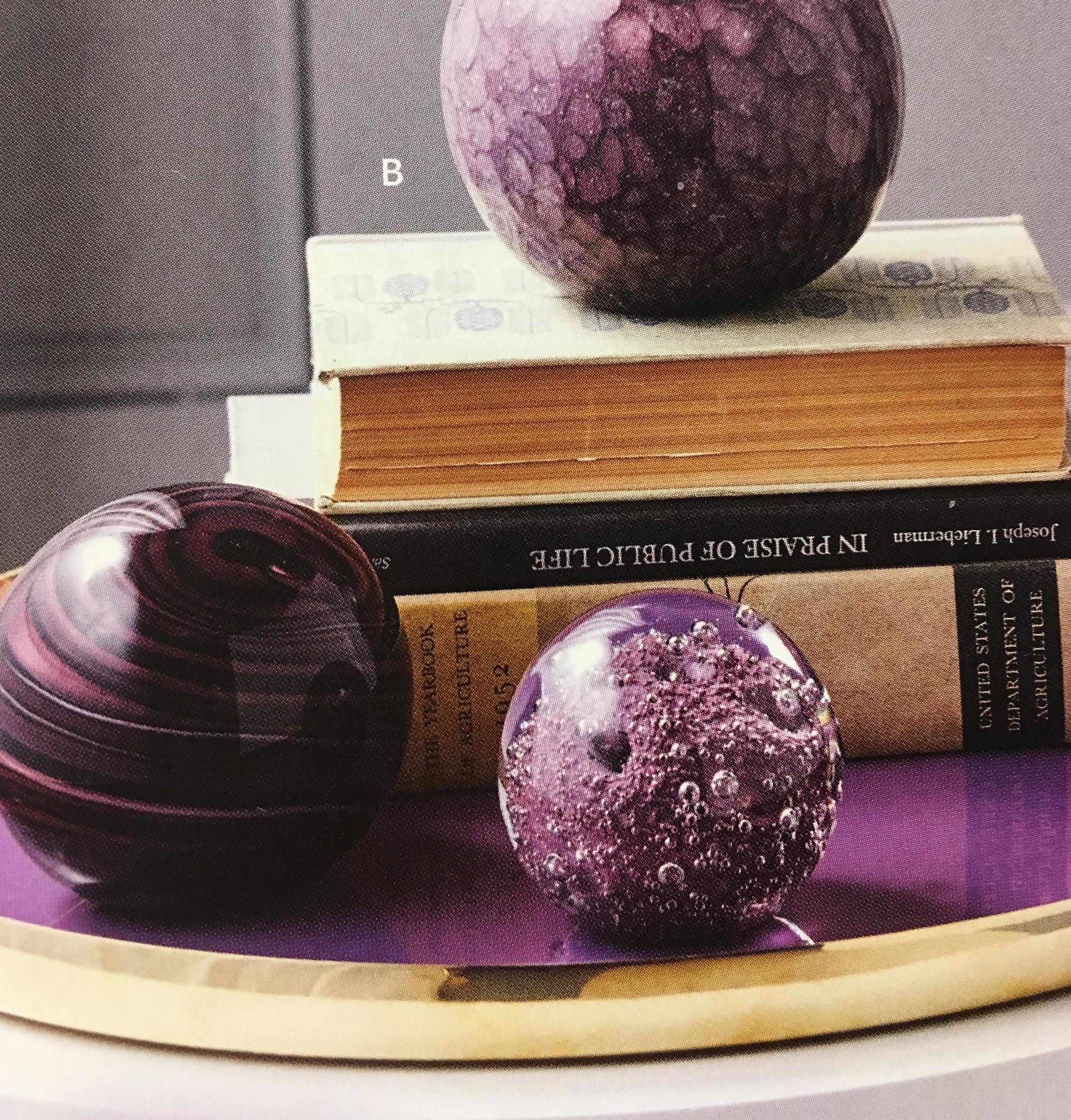 Order Number. 10. Decorative glass balls (purple)