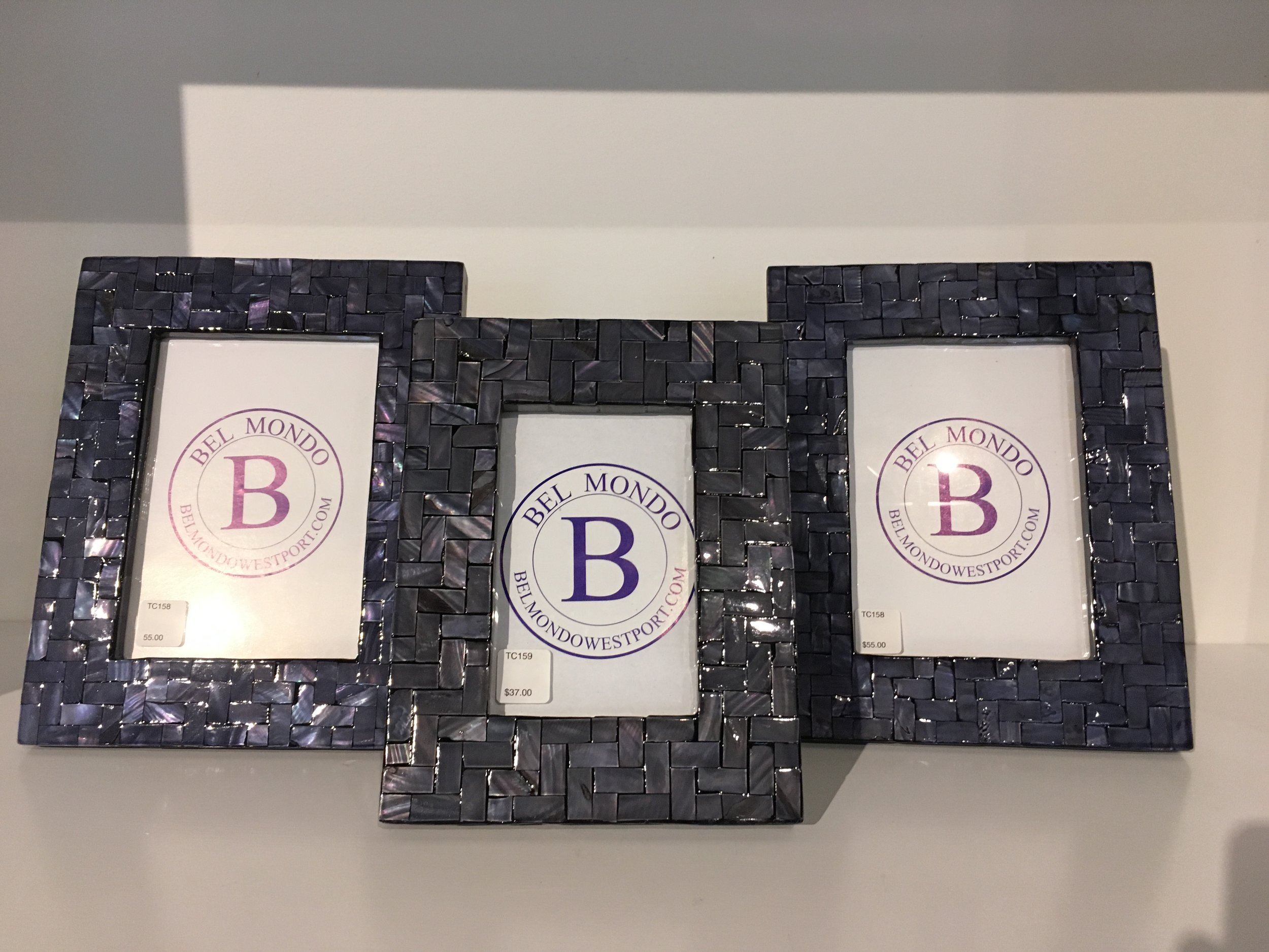 Order Number. 16. Navy glass tile photo frames  (also come in white)